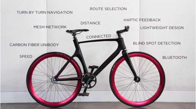 Start-Up VanHawks lance son vélo connecté