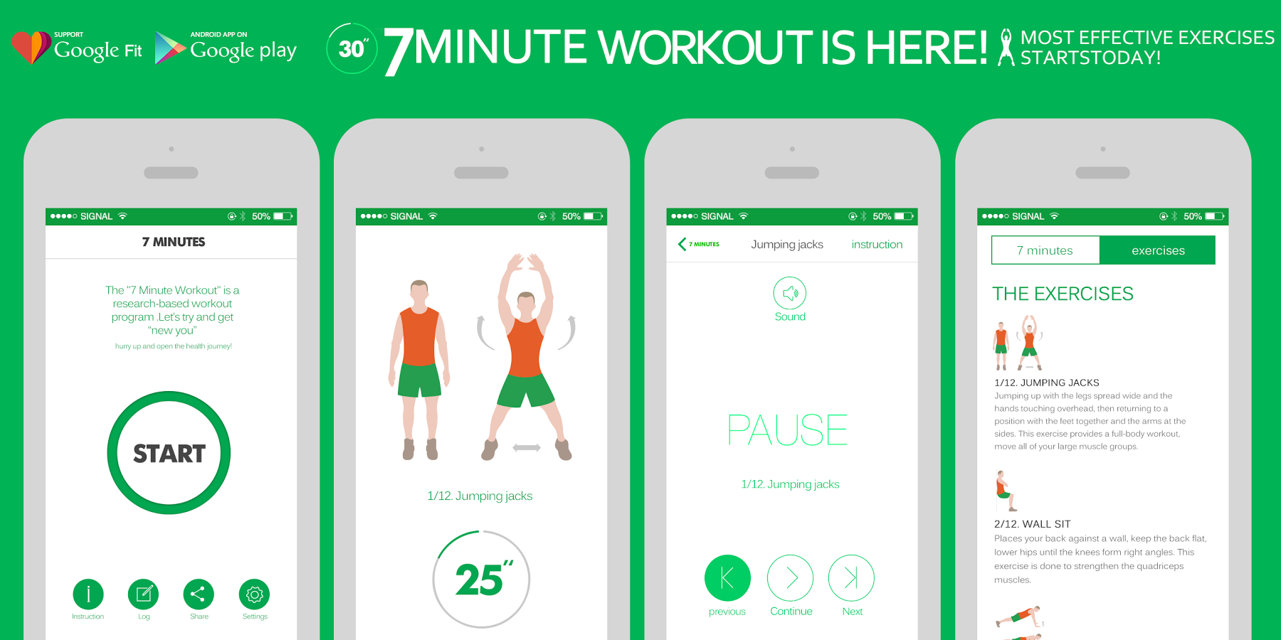 Application mobile 7 min workout